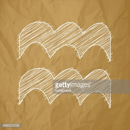 Aquarius HOROSCOPE SIGNS ZODIAC - Scribble on a brown background.