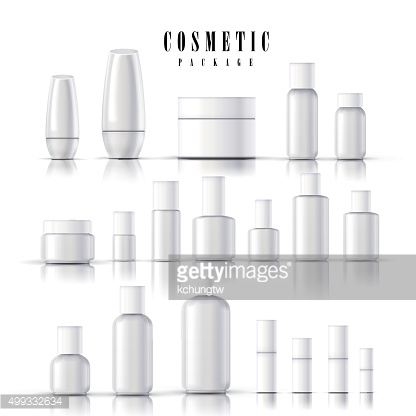 blank cosmetic package collection