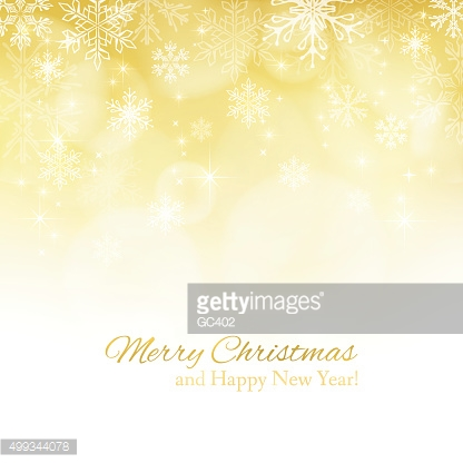 Gold abstract Christmas background with snowflakes