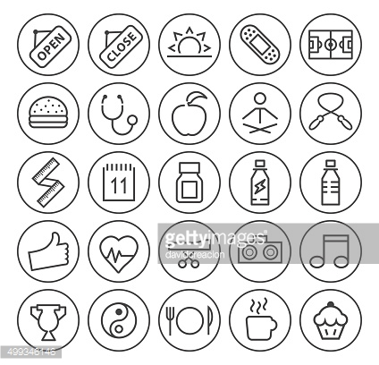 Set of 25 Fitness Icons.