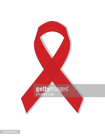 World AIDS Day. Red ribbon. Vector illustration 10 EPS