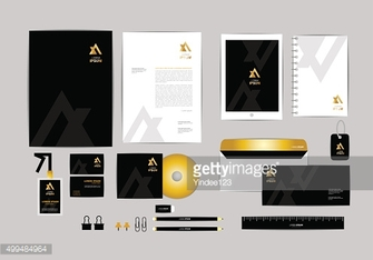 gold, black and silver corporate identity template 3