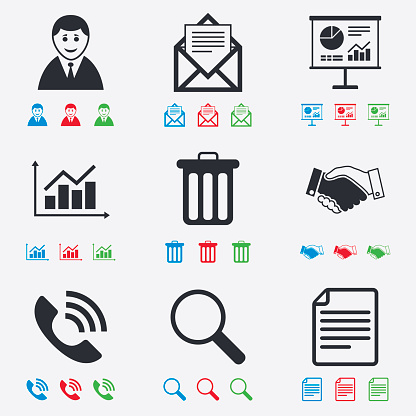 Office, documents and business icons