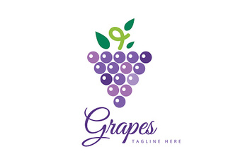Grapes vector isolated icon