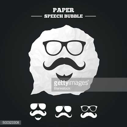 Mustache and Glasses icons. Hipster symbols