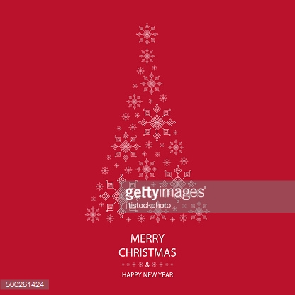 merry christmas and happy new year greeting card red