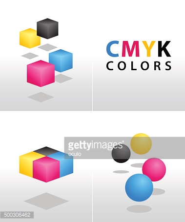 CMYK shapes and colors