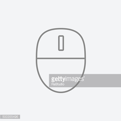 Computer mouse line icon
