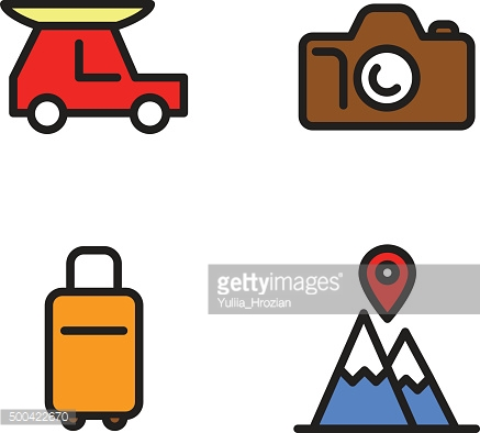 Travel by car Icons set