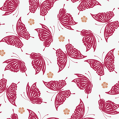 Japanese butterfly pattern