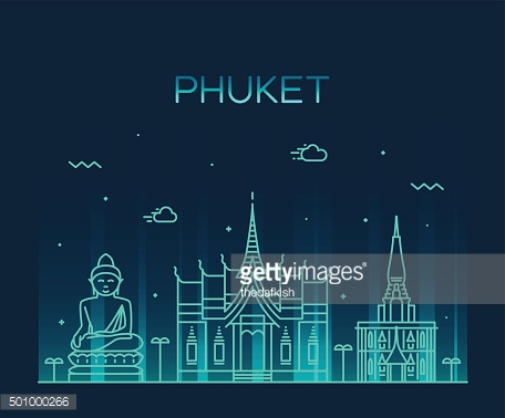Phuket Trendy vector illustration linear style