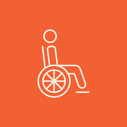 Disabled person line icon