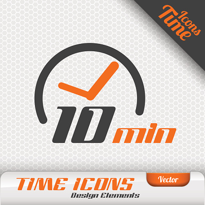 Time Icon 10 Minutes Symbol Vector Design Elements