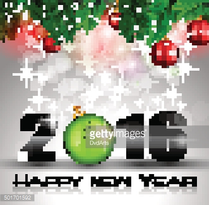 2016 Merry Christmas and Happy New Year Background