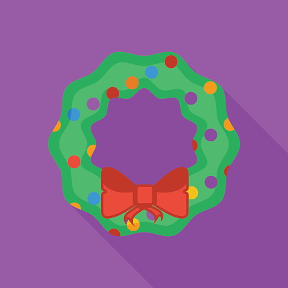 Christmas Wreath flat icon