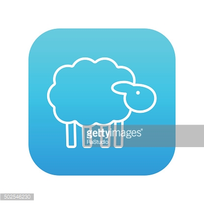 Sheep line icon