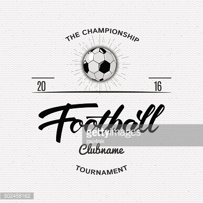 Football, Soccer Hand lettering badges and labels for any use