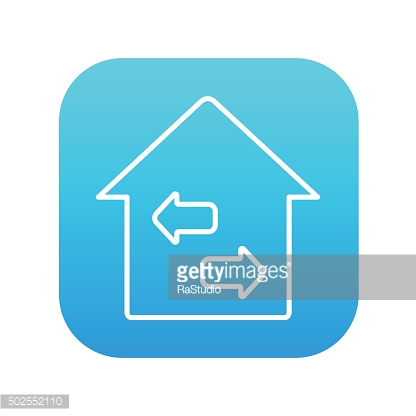 Property resale line icon
