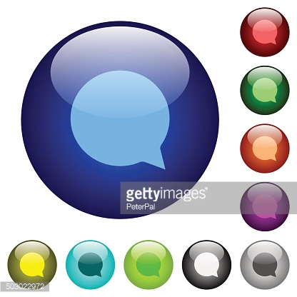 Color chat glass buttons