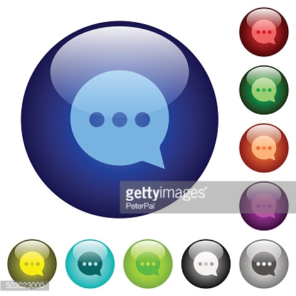Color working chat glass buttons