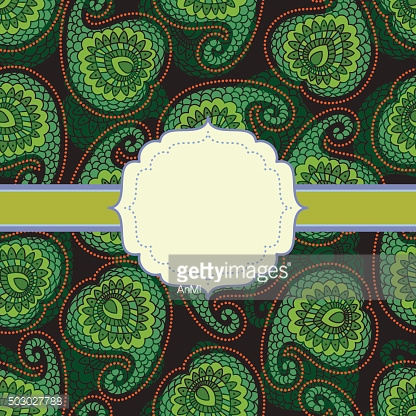 Background with decorative leaves