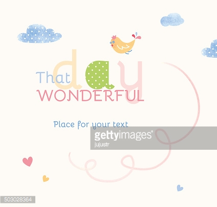 Greeting banner with bird and clouds and space for text