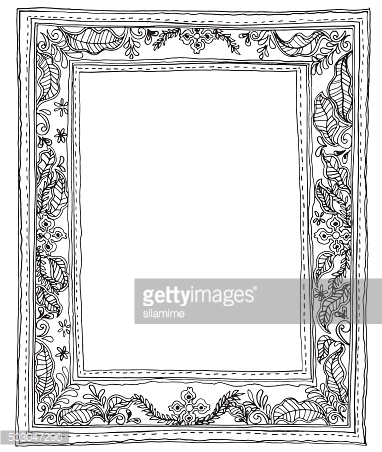 Leave small frame and sewing style