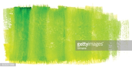 Watercolor green yellow neon bright vector isolated background
