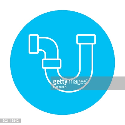 Water pipeline line icon
