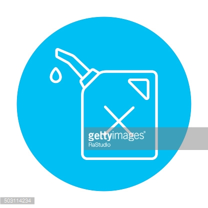 Gas container line icon