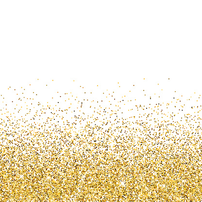 Vector gold glittering abstract particles