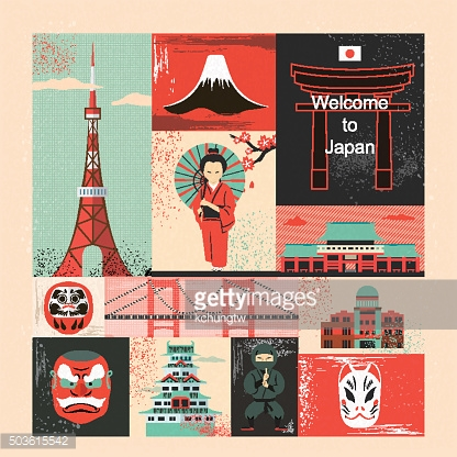Japan travel elements collection