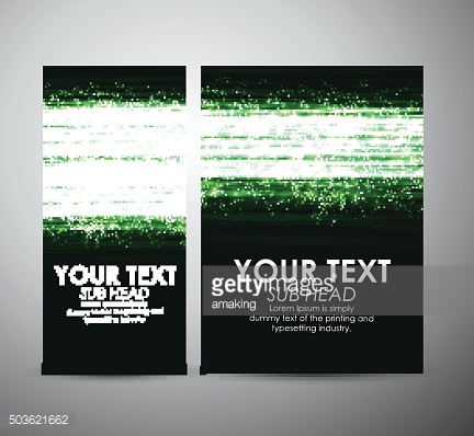 Abstract green shining line. Graphic resources design template.