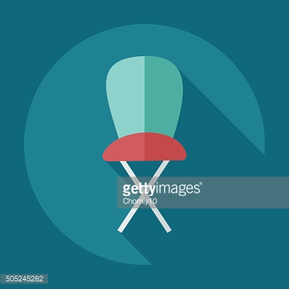 Flat modern design with shadow icons high chair