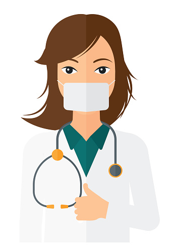 Confident doctor in mask