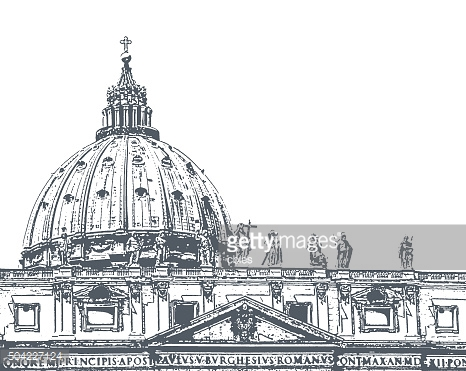 The dome of St. Peter's Cathedral, illustration