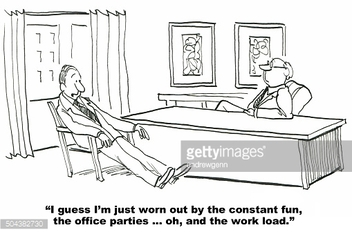 Worker is Worn Out by the Fun at the Office