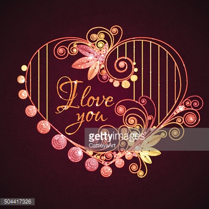 Happy valentine day. Heart with title. Vector illustration