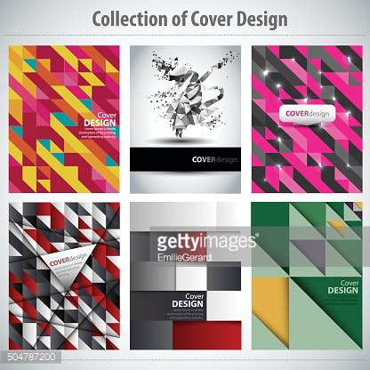 Collection of cover design, vector brochure, flyer template