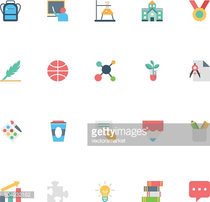 Flat Education Vector Icons 5