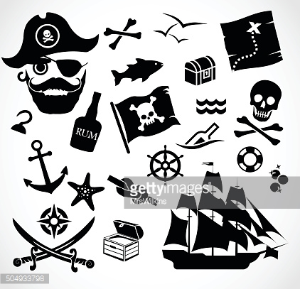 Pirate icon set vector illustration