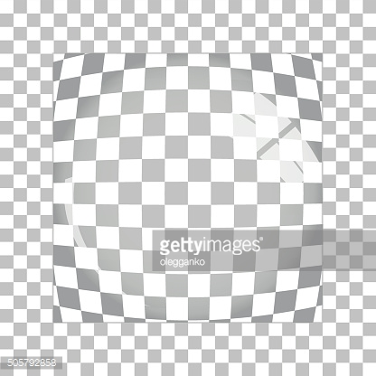 Transparent Magnifying Glass on Gray Background