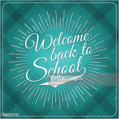 Back to School Typographic - Vintage Style Back to School