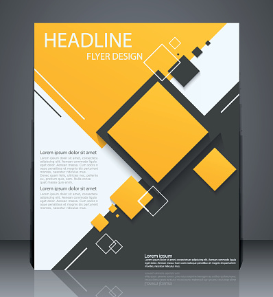 Abstract digital business brochure flyer