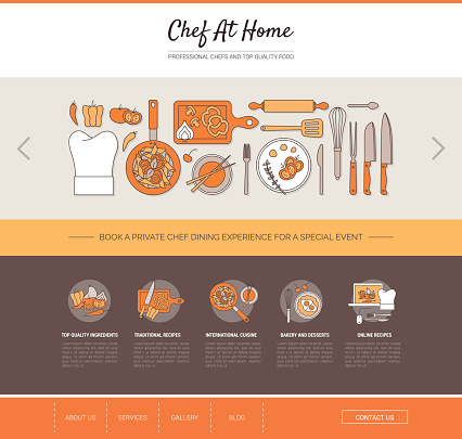 Chef at home web template
