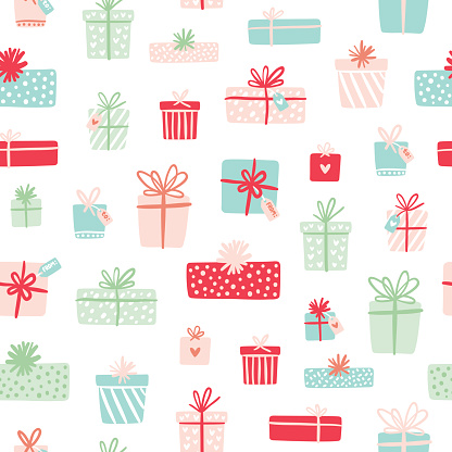 Party presents seamless pattern