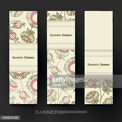 Beautiful banner vector template with floral abstract background