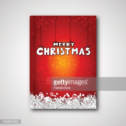 Cover book or flyer with Merry Christmas