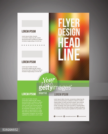 Business brochure or offer flyer design template.