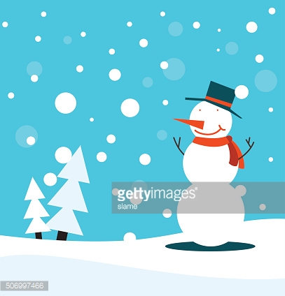 Snowman christmas poster or card